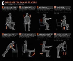 ćwiczenia przy biurku