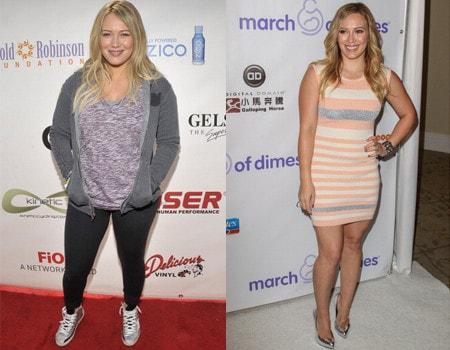 Metamorfoza Hilary Duff - schudła po porodzie i pokazała ...